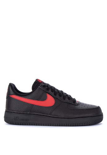 Nike black and red Men's Nike Air Force 1 '07 Shoes 2EBAESH138302EGS_1