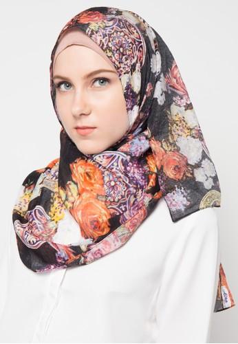 Aira Muslim Butik black Maleeka Pashmina AI892AA48KWXID_1