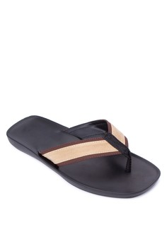Carlo Thong Leather Suede Sandals