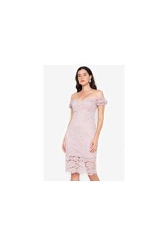 4289cdcd0309 Twenteen pink Sweetheart Short Sleeves Lacey Dress F9759AAC6524C2GS 1