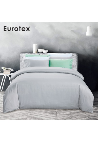 Eurotex Eurotex Home,900TC 100% Cotton Sateen, Fitted Sheet set, Soho Silver 95405HL18C582AGS_1
