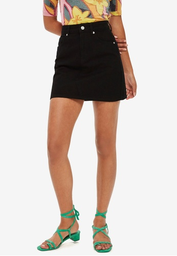e5ab5999b1 Buy TOPSHOP High Waisted Denim Skirt Online on ZALORA Singapore