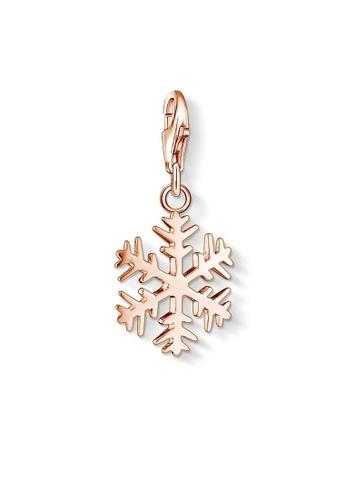 "THOMAS SABO gold Charm Pendant ""Snowflake"" 299C5AC8A44C2AGS_1"