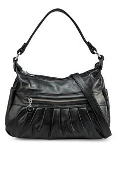 Shoulder Bag with Pleat Details
