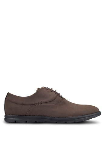 UniqTee brown Plain Toe Oxford Shoes UN097SH0RFVEMY_1