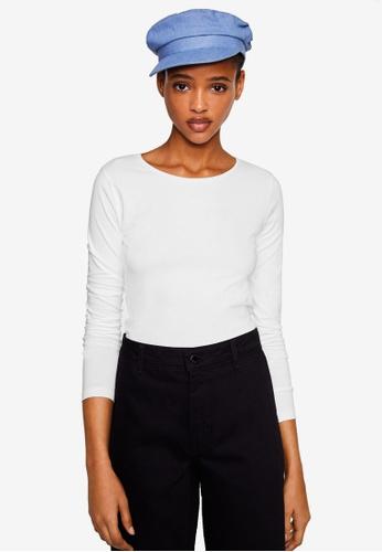 Mango white Long Sleeve T-Shirt 12F8BAAF526E6EGS_1