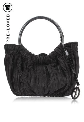 Giorgio Armani black Pre-Loved giorgio armani A Mini Velvet Bag A09A7ACA3C29EBGS_1