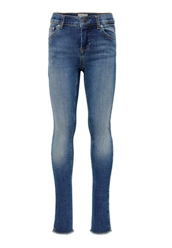 ONLY blue Blush Skinny Raw Jeans 87601KAAE30B6CGS_1
