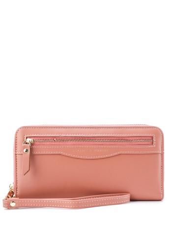 HUER pink Imeta Small Trifold Wallet 07F88ACE34DA64GS_1