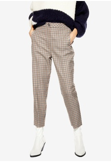 75797cb4d7 Bonded Check Tapered Trousers 3EC40AA3BBF7C5GS 1
