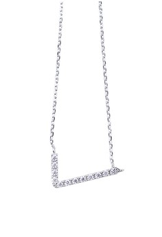 V-shape Silver Earrings and Necklace