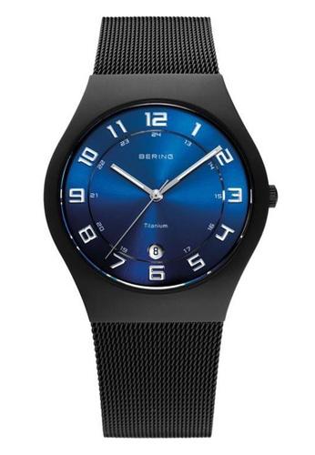Bering blue Titanium 11937-227 Blue 37 mm Men's Watch 681F2ACFFF014DGS_1