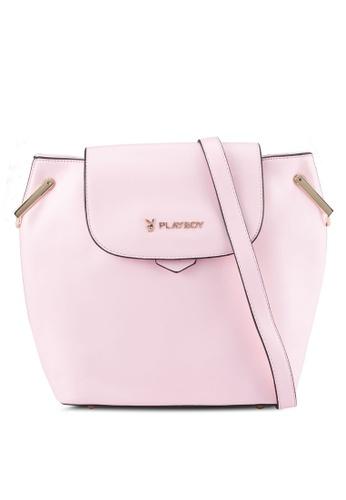 PLAYBOY BUNNY pink Playboy Bunny Ladies Sling Bag PL604AC0SYJZMY_1