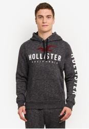 Hollister black Logo Hoody HO422AA0SBOCMY_1