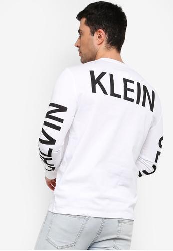 Calvin Klein 白色 LOGO印花T恤 999EDAADDE471EGS_1