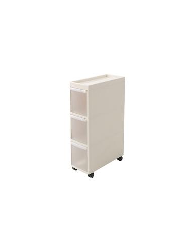 HOUZE beige HOUZE - 3 Tier Slim Cabinet 401C8HLD9CCC32GS_1
