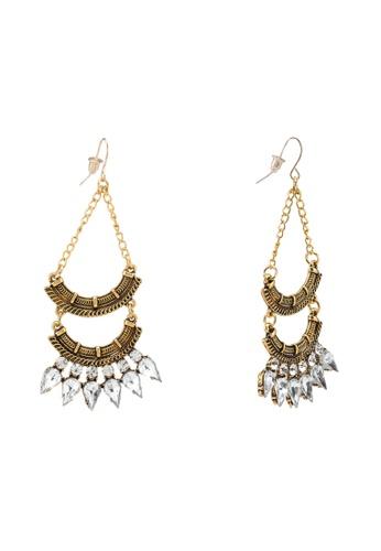 Red's Revenge white Tribal Diamante Drops Dangle Earrings 2F6E6AC537D8D6GS_1