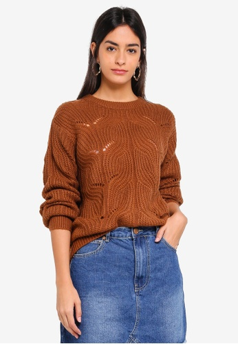 Modstrom brown Jalo O-Neck Jumper 900D5AAE882F6CGS_1