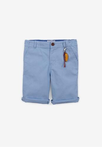 Gingersnaps blue Boys Bermuda Shorts With Keychain 2A313KA69DC23EGS_1