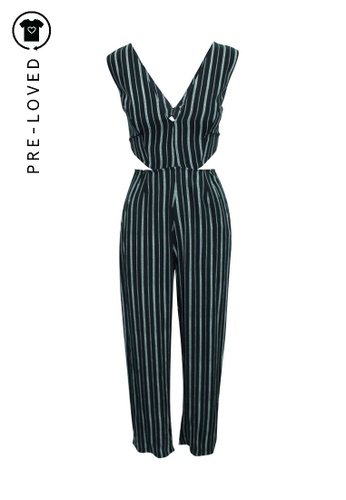 Reformation black Pre-Loved reformation Striped Jumpsuit 516AFAA22561C9GS_1