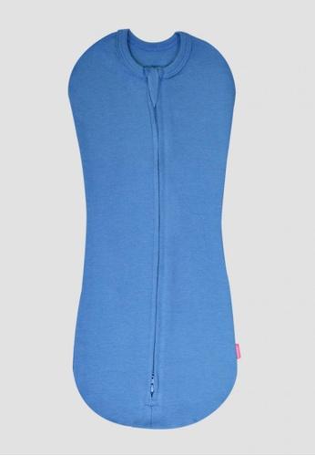 LUNAVIE blue LUNAVIE ANTIBACTERIAL SWADDLE POUCH (BLUE) 8B624KCBB50FBDGS_1