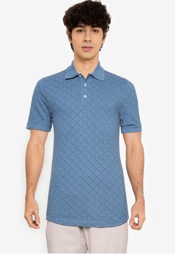 LC Waikiki blue Polo Neck Printed Shirt 82A7DAAFBBD82EGS_1
