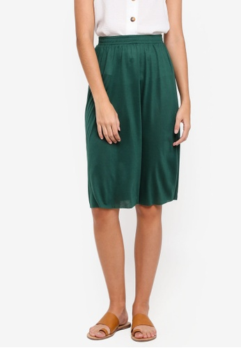 ZALORA BASICS green Basic Midi Flare Skirt 0BDC7AAA1F8474GS_1