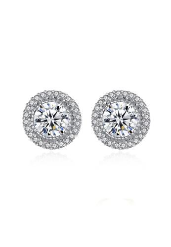 SUNRAIS silver Premium Color Stone Silver Simple Design Earrings 704FCACBA90C08GS_1