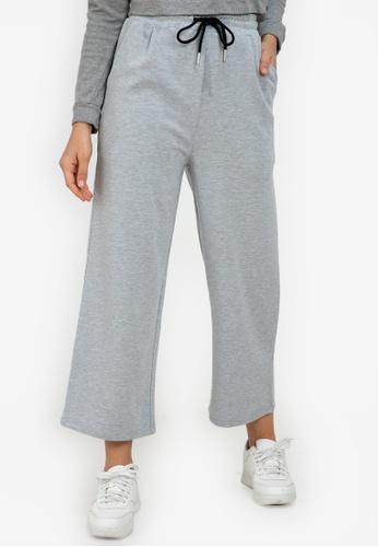 ZALORA ACTIVE grey Relaxed Wide Leg Pants 8D7B2AAE7DB47CGS_1