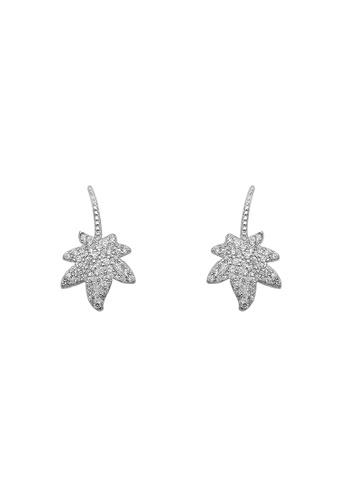 Silverworks silver Margo Maple Leaf Silver Stud Earrings 6C224AC86128B0GS_1