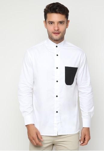 JOULDAS white Jouldas Casual White Shirt D7AC9AAE10AFB9GS_1