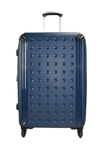 Jean Francois blue Jean Francois 28 inch 4  Wheels Trolley Hard Case - JTH 6912 Navy 269D2AC3371CE6GS_1