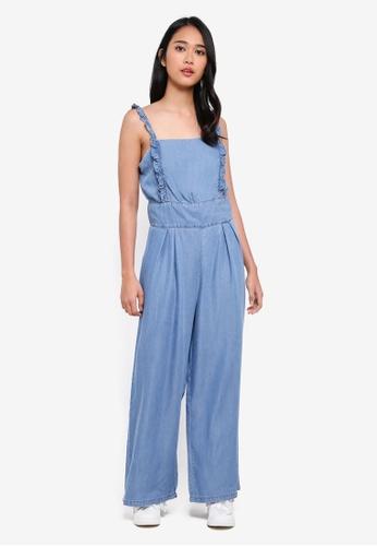 ONLY blue Irit Frill Lyocel Jumpsuit 250D1AA40D3FFFGS_1