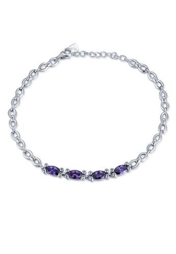 MBLife silver 925 Sterling Silver Purple CZ Bracelet 9AFB3AC26A5688GS_1