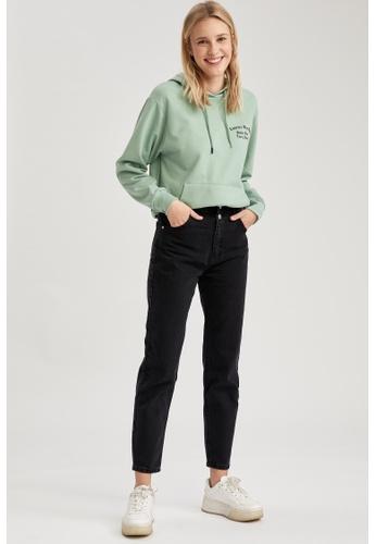 DeFacto black High Waist Mom Jeans 46690AA8845FF6GS_1