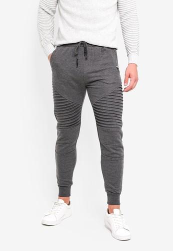 Indicode Jeans grey Cristobal Ribbed Paneled Jogger Pants A7F4FAA7FBC0ECGS_1