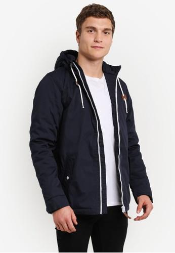 !Solid blue Keldon Parka Jacket SO701AA0S2VVMY_1
