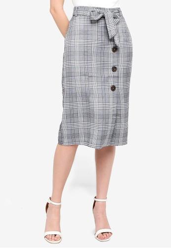 FORCAST grey Saga Tie Waist Skirt 682B1AA3132EA5GS_1