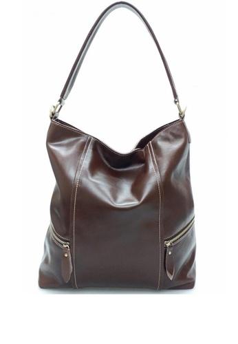 IXACC brown Waxy Leather Hobo Bag IX982AC0KE5RPH_1