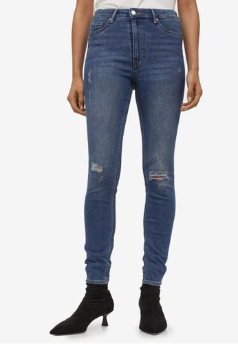 H&M blue Curvy High Waist Jeggings 227B3AAD947693GS_1