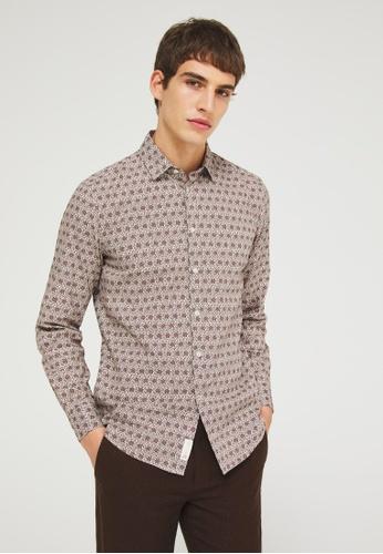 Sisley multi Printed Shirt 7AE21AAC1B61B0GS_1
