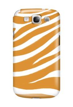 Orange Zebra Print Glossy Hard Case for Samsung Galaxy S3