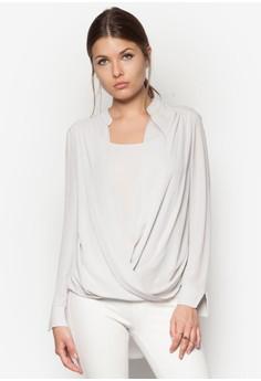 Grey Wrap Layer Blouse