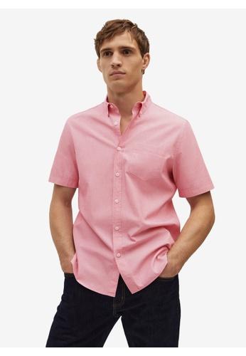 Mango Man red Regular Fit Cotton Shirt CE9E3AA9CE6B6FGS_1