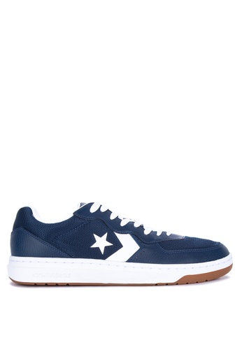 Converse navy Rival Leather Sneakers 9E789SHFC546DEGS_1