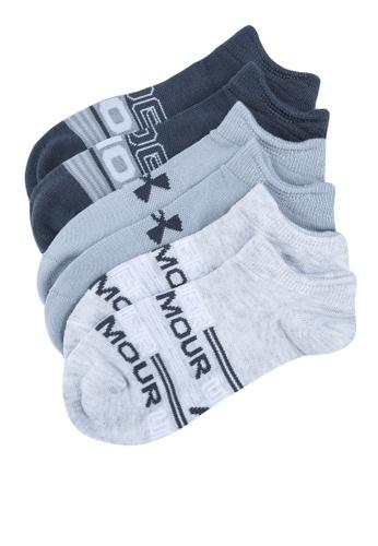 Under Armour grey Essential No-Show 3-Pack Socks 45C82AC7491B71GS_1