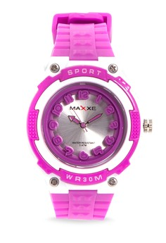 Girls Rubber Strap Watch MXPO-937A