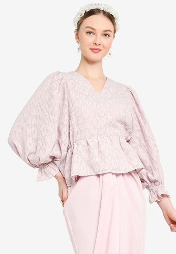 Lubna pink FRILL WRAP TOP 1C859AA8C93D67GS_1