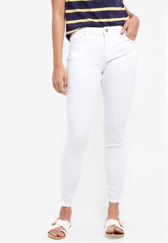 TOPSHOP white Moto White Leigh Jeans 5FD2CAA01747BBGS_1