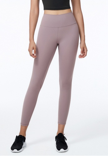 B-Code purple ZWG5001-Lady Quick Drying Running Fitness Yoga Sports Leggings-Purple 54D97AA78EE3F9GS_1